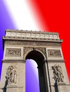 Arc de triomphe de l'Etoile Paris et drapeau Français
