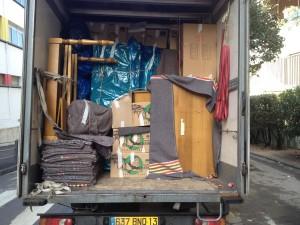 Camion déménagement 20 m3 chargé