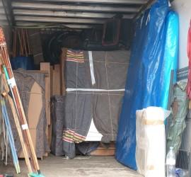 Camion déménagement chargé